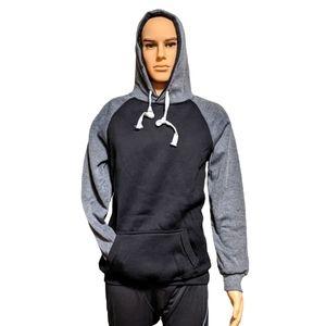 Black/Gray Muscle fit Sweatshirt Hoodie